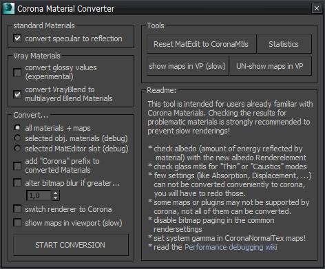 Corona Material Convertor