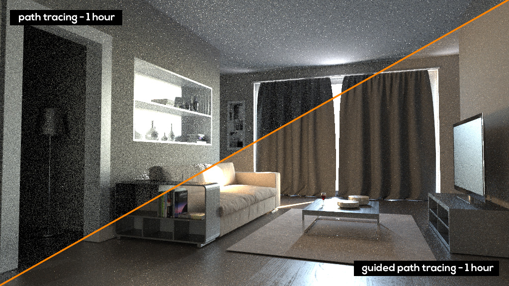 Guided Path tracing Corona Renderer
