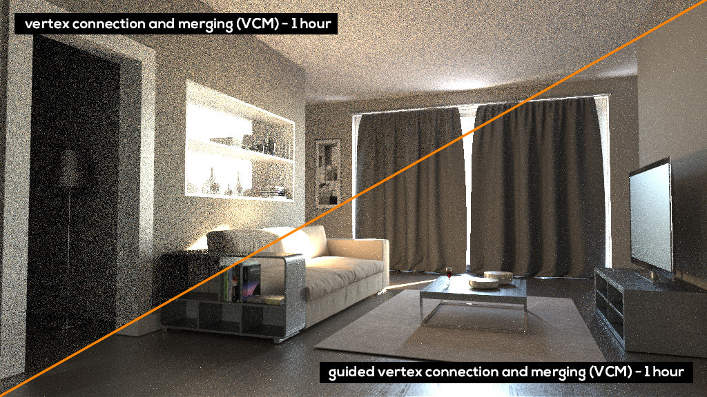 Guided Vertex Connection and Merging Corona Renderer