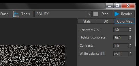 Corona Renderer VFB colormap