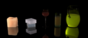 Equal-time UPBP rendering, notice the reduced noise, especially on the candle.
