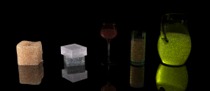 Volumetric scattering rendered with photon beams.