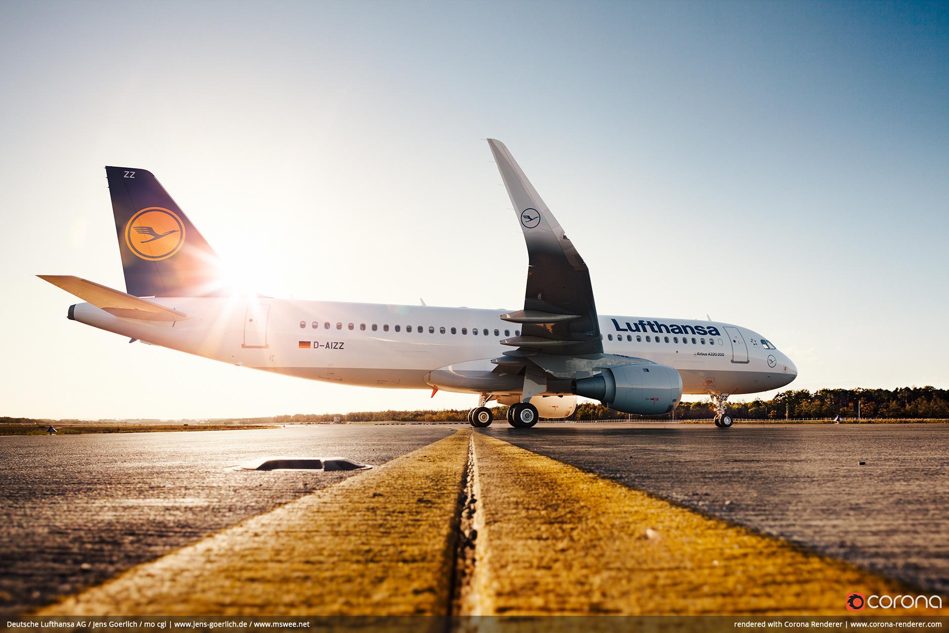 Deutsche Lufthansa AG / Jens Goerlich / mo cgi - Lufthansa A320 Corona render