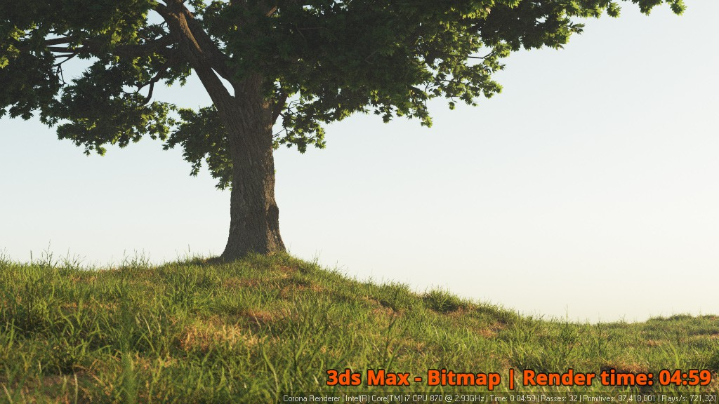 Corona Renderer - 3ds Max Bitmap - Tree