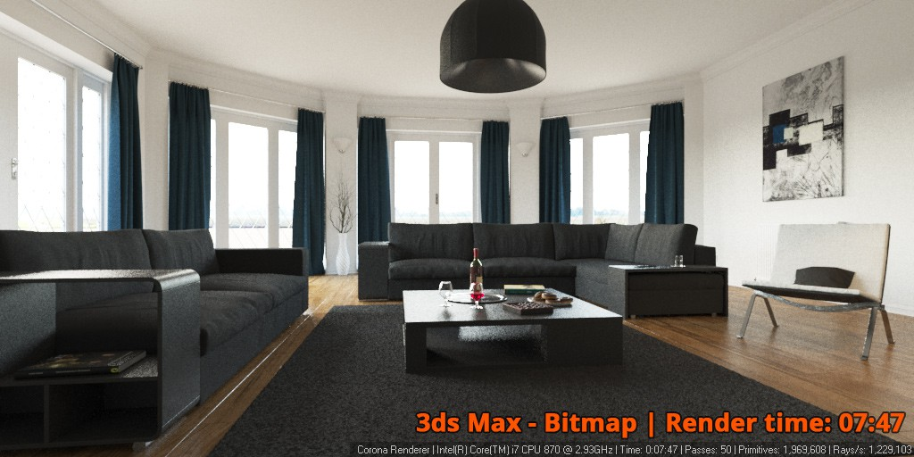 Corona Renderer - 3ds Max Bitmap - interior