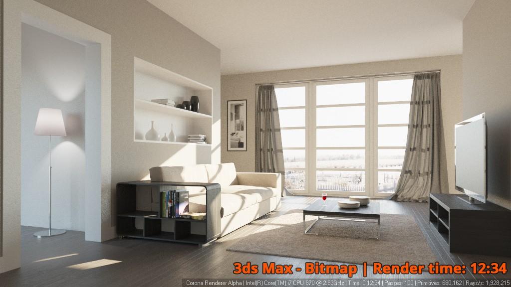 Corona Renderer - 3ds Max Bitmap - interior 2
