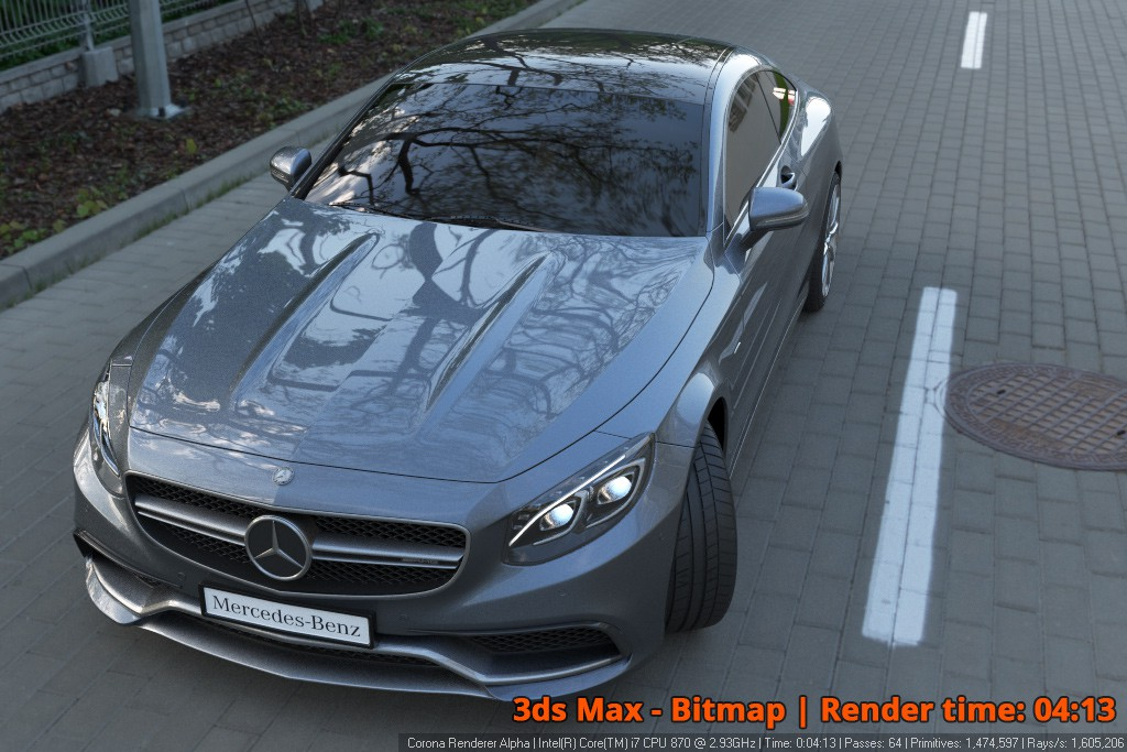 Corona Renderer - 3dsMax Bitmap - Car