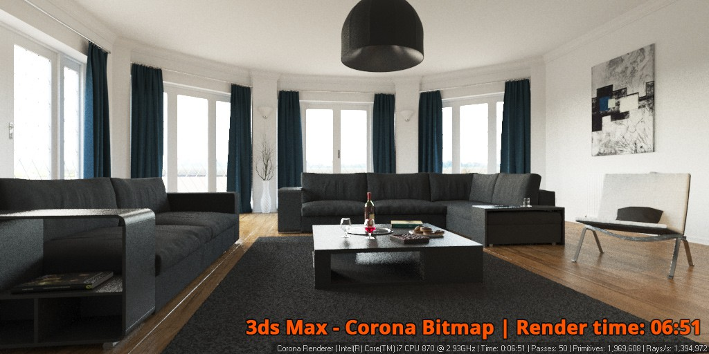 corona renderer 1 1 for 3ds max released corona renderer. Black Bedroom Furniture Sets. Home Design Ideas
