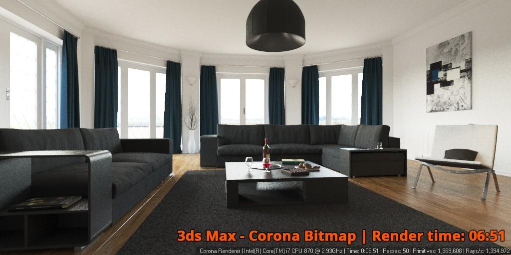 Corona Renderer - Corona Bitmap - interior