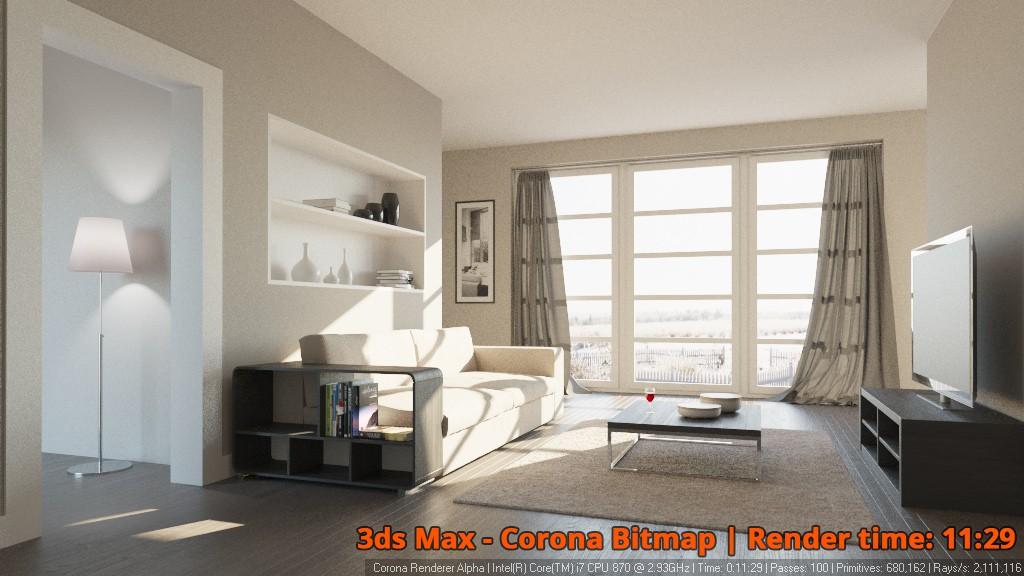 Corona Renderer - Corona Bitmap - interior 2