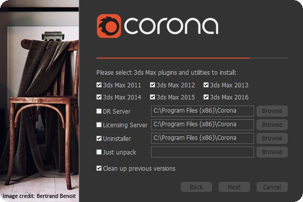 Corona Renderer 1.1 installer