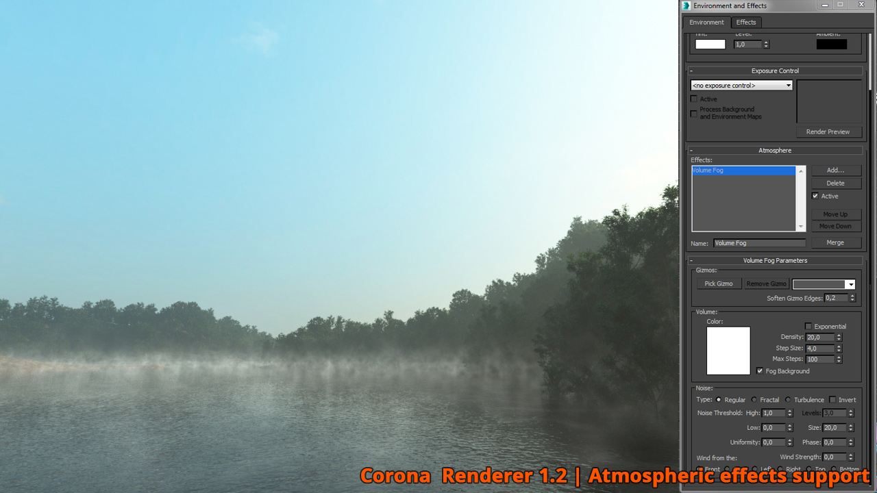 Corona Renderer - Athmospheric Effects Support