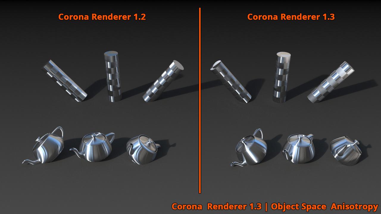 Corona Renderer - Anisotropy Improvements