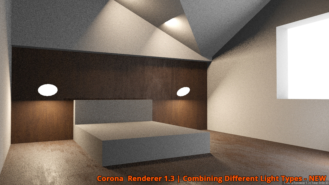 Corona Renderer - Combining Different Light Types - NEW