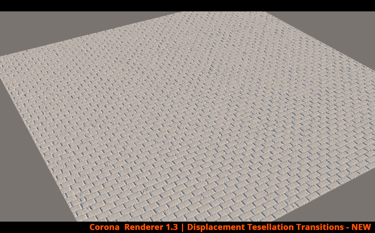 Corona Renderer - Displacement Tesselation Transition - NEW
