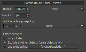 Corona Renderer - Rounded Edges Map