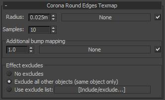 Corona Renderer - Rounded Edges Map
