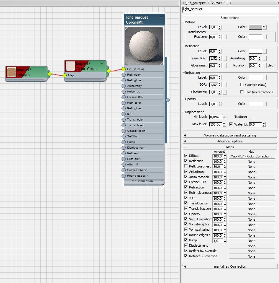 Corona Renderer - Xoio - Material Editor