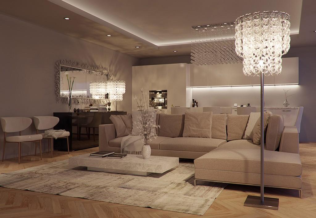 Corona Renderer - Eduard Caliman - Luxurious Living Room 2