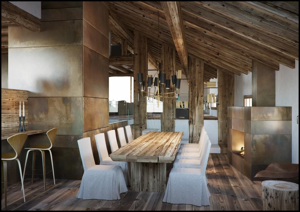 Corona Renderer - Francesco Legrenzi - Mountain Home Interior 01