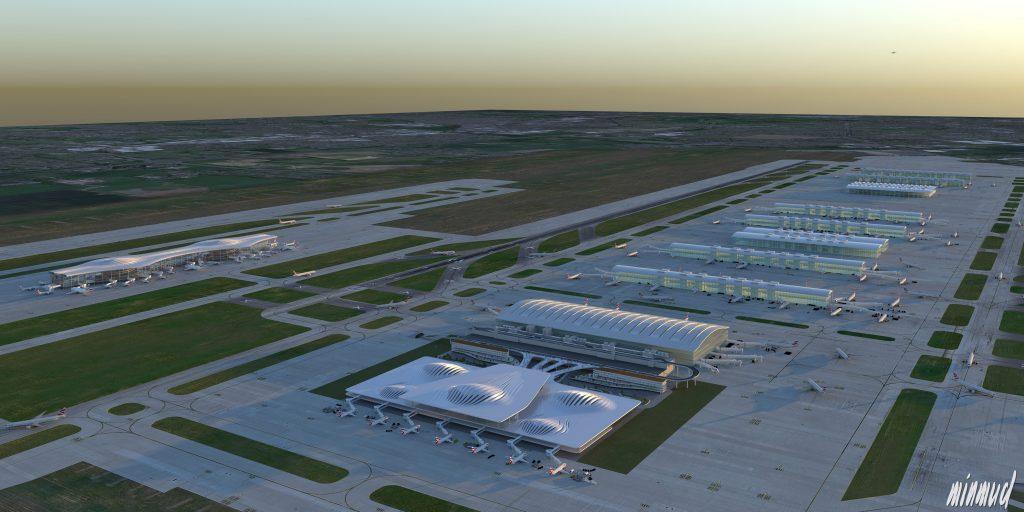 Minmud Heathrow visualisation raw render