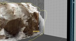 Rock mesh from photogrammetry
