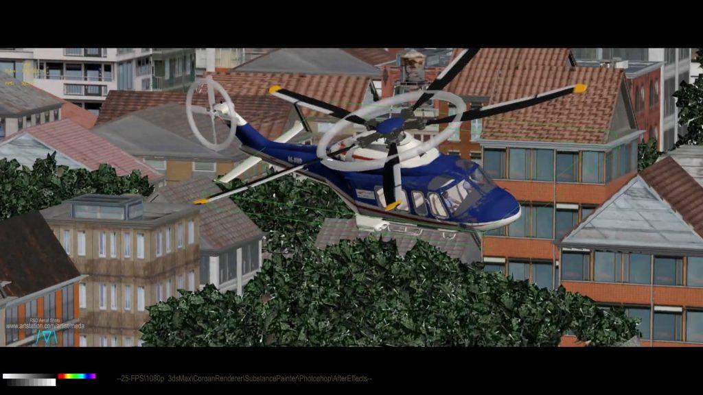 Meda Helicopter Frame 02 Viewport
