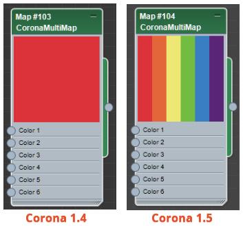 Corona Renderer 1.5 CoronaMultiMap material editor display