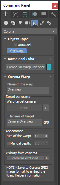 CoronaVrWarp