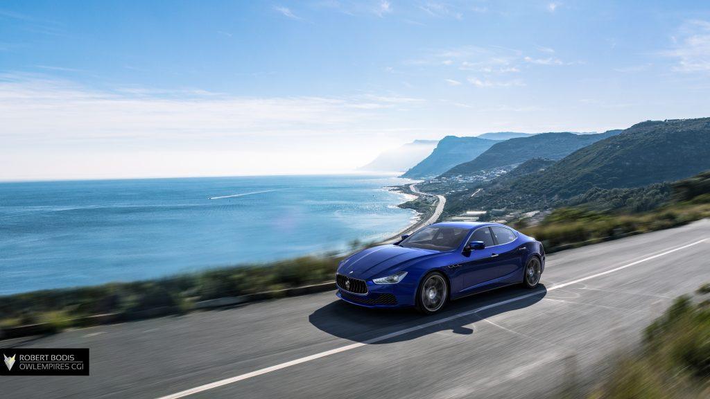Robert Bodis Owlempires Maserati Ghibli CGI