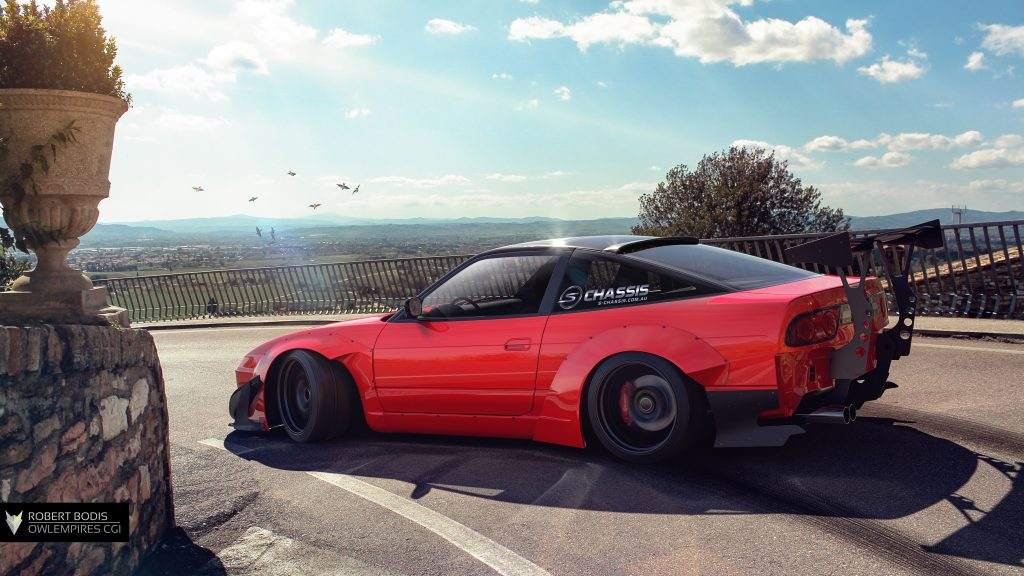 Robert Bodis Owlempires Nissan S13 CGI