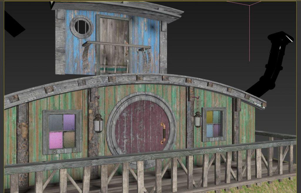 Hobbit House texturing 01