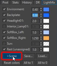 Corona Renderer 1.6 LightMix to Scene