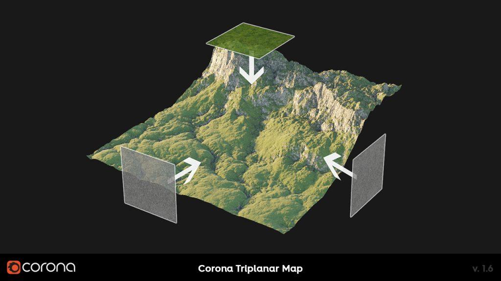 Corona Renderer 1.6 Triplanar Mapping