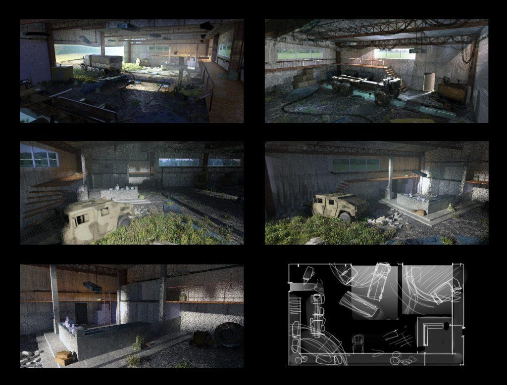 Fyodor, Last Survivor, interior concept thumbnails.
