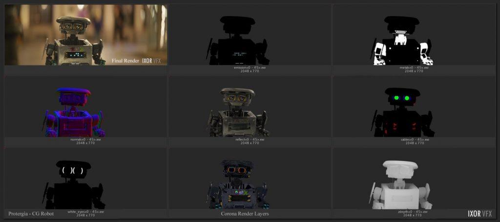 08 IXOR CG Robot Render Layers