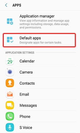 Default apps 1