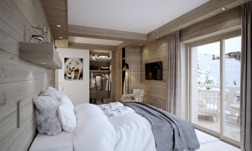 Chalet Bedroom by Valentinstudio