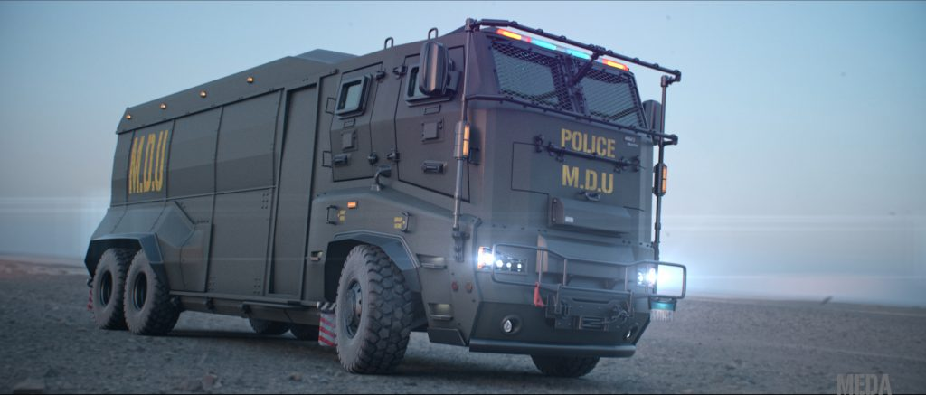 MDU armored truck, by Meda