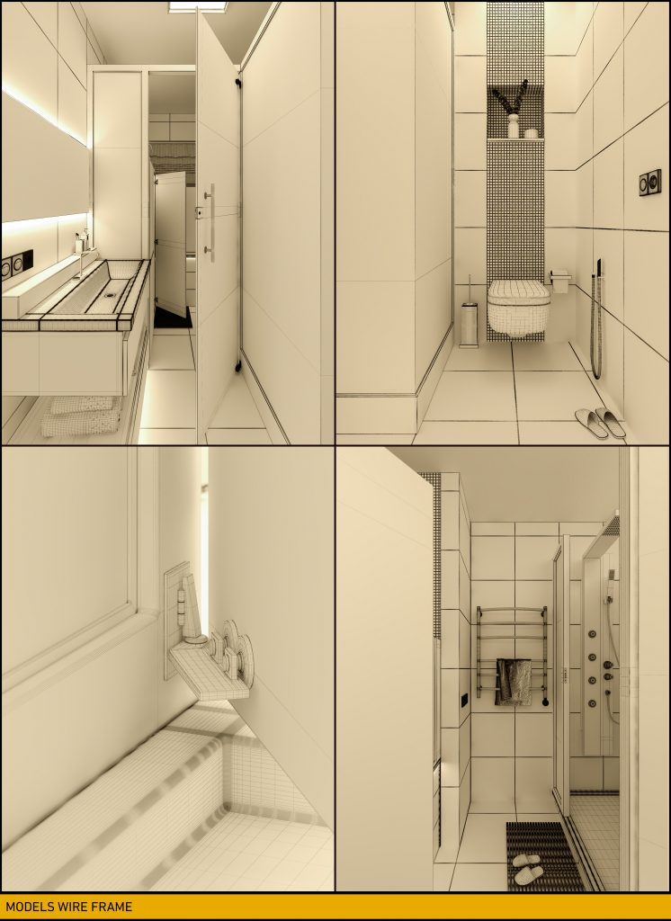 Mohammadreza Mohseni Nuremberg Bathroom Geometry from different camera angles