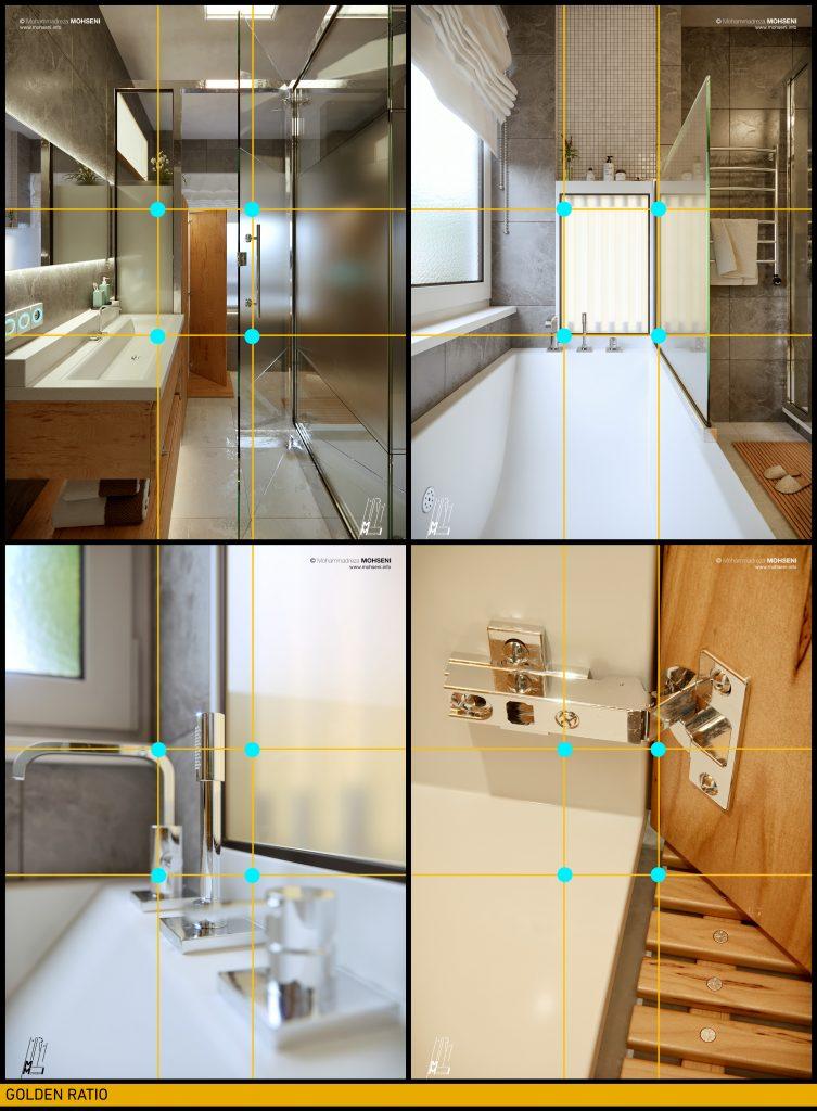 Mohammadreza Mohseni Nuremberg Bathroom PIC_03, Golden Ratio