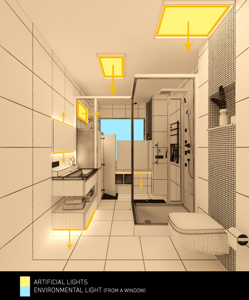 Mohammadreza Mohseni Nuremberg Bathroom interior lighting 02