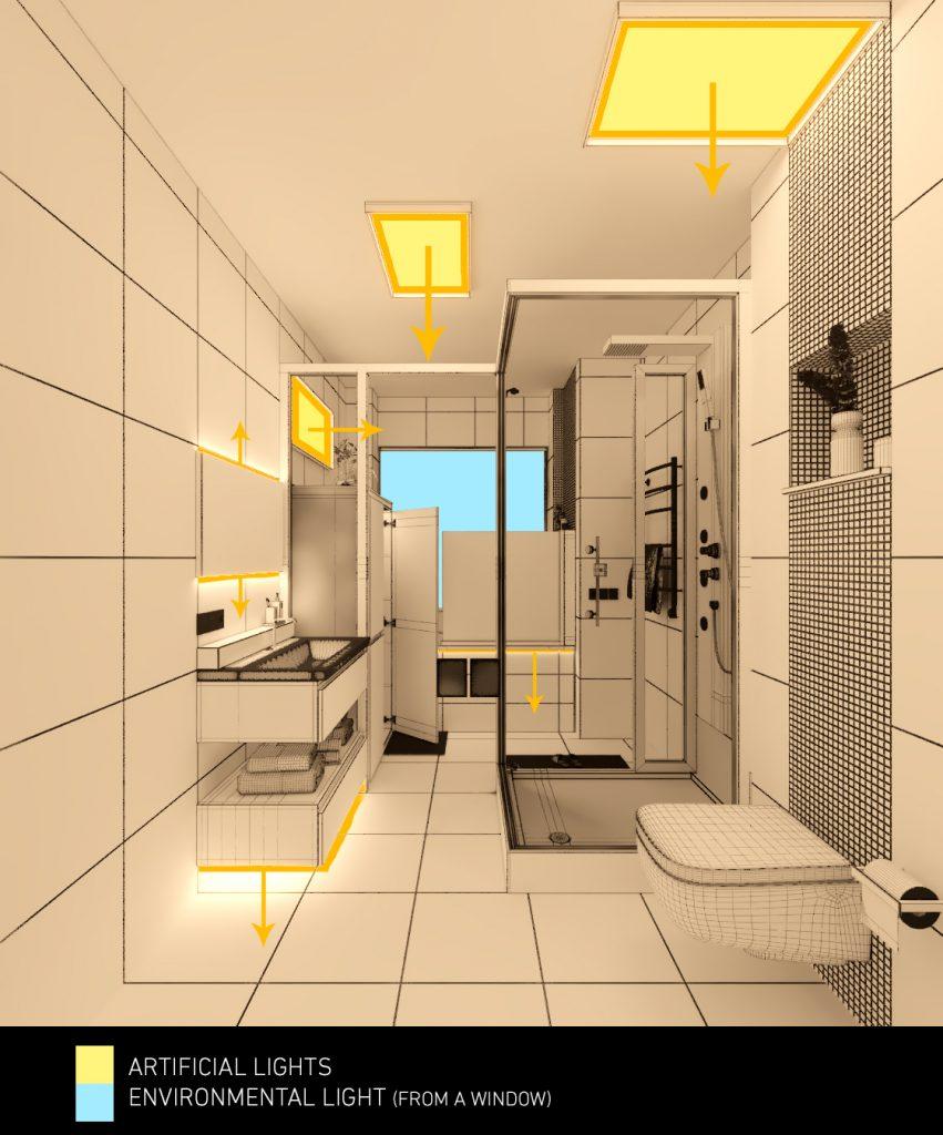 Mohammadreza Mohseni Nuremberg Bathroom interior lighting 02