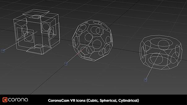 Corona Renderer 1.7, CoronaCam VR icons