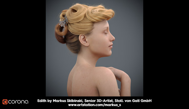 Corona Hair, Skin and Dispersion - Markus Skibinski, Senior 3D-Artist, Stoll. von Gati GmbH - www.artstation.com/markus_s
