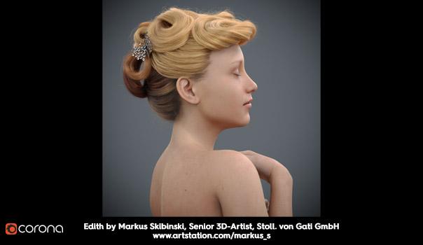 Corona Hair, Skin and Dispersion - Markus Skibinski, Senior 3D-Artist, Stoll. von Gati GmbH - www.artstation.com/markus_s