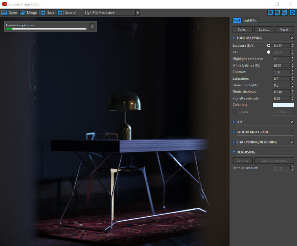 Corona Renderer for Cinema 4D, Corona Image Editor (Windows)