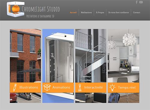 ChromeLight Studio home page