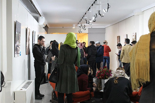 Milad Kambari, photo from the exhibition in Tehran