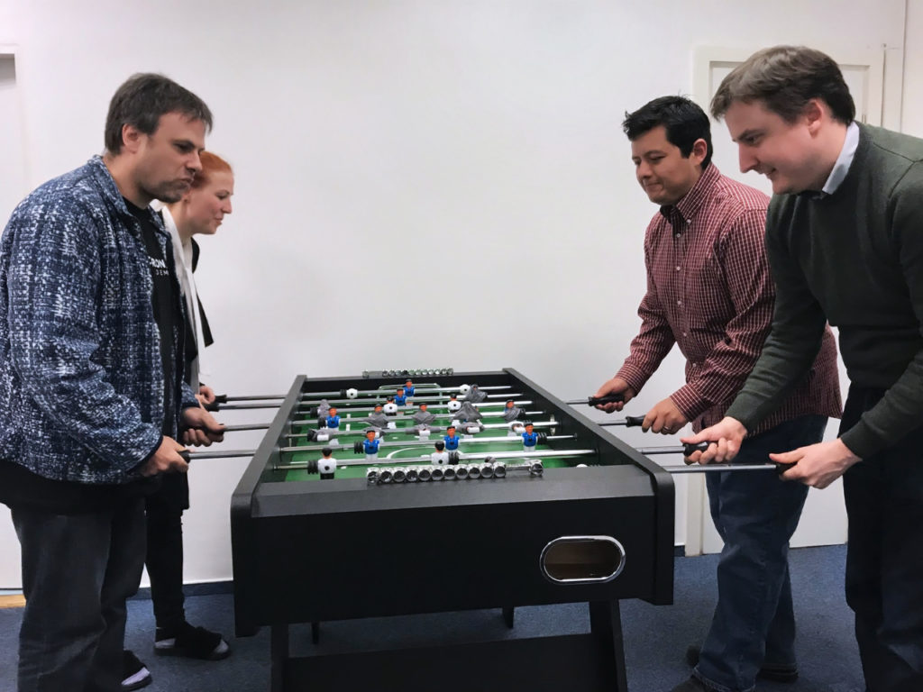 Table football at a Corona Academy